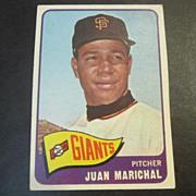 Vintage 1965 Topps Baseball Card Juan Marichal