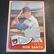 Vintage 1965 Topps Baseball Card Ron Santo