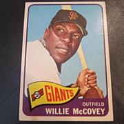 Vintage 1965 Topps Baseball Card Willie McCovey