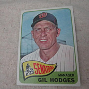 SOLD Vintage 1965 Topps Baseball Card Gil Hodges