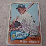 Vintage Topps Baseball Card Frank Howard