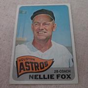 Vintage 1965 Topps Baseball Card Nellie Fox