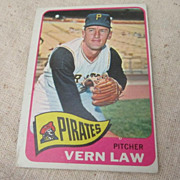 Vintage 1965 Topps Baseball Card Vern Law