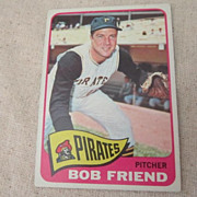 Vintage 1965 Topps Baseball Card Bob Friend