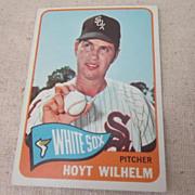 Vintage Topps Baseball Card Hoyt Wilhelm