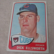 Vintage 1965 Topps Baseball Card Dick Ellsworth