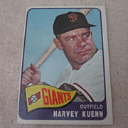 Vintage 1965 Topps Baseball Card Harvey Kuenn
