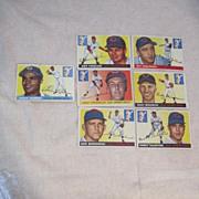 Vintage 1955 Topps Baseball Cards Set of 7