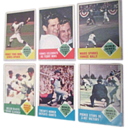 1963 Baseball Card Topps #142, 144,145, 146,147, 148  1962 World Series