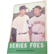 1963 Topps Baseball Card #331 Series Foes