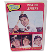 SALE Topps Card #5 1964 RBI Leaders