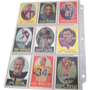 REDUCED Set of Nine 1958 Topps Football Cards