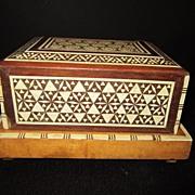 Vintage Wood Footed Cigarette Music Box