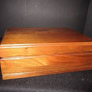 SALE Vintage Walnut Cigar Humidor Box