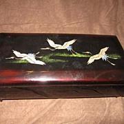 Vintage Black Lacquer Music Box