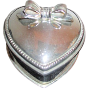 SALE Heart Shaped Silver Plated Presentation Box