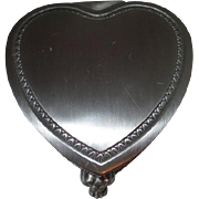 Brushed Metal Heart Shaped Footed Box