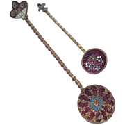 Two Small Cloisonne Spoons with Twisted Handles