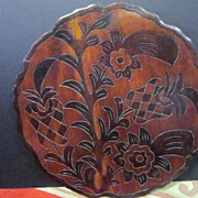 """REDUCED Vintage Hawaiian Carved  Wood Double Sided Tray-19"""""""