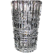 heavy Crystal Clear Vase