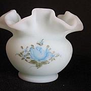 Vintage Fenton  Vase  Signed S. Meunier