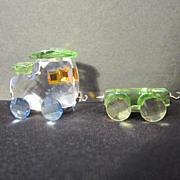 REDUCED Swarovski Miniature Crystal Train