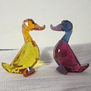 REDUCED Swarovski Miniature Lily and Luke (ducks) The Lovelots Collection
