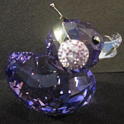 "SALE Swarovski Miniature ""Duck J"" From the happy Ducks Collection"