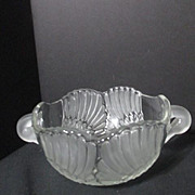 Vintage Mikasa Swan Crystal Bowl with Swan Handles