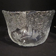 Vintage Glass Clear and Frosted Bowl