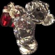 REDUCED Vintage Swarovski Miniature Teddy Bear With Gift