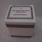Avon Cape Cod Collection Short Candle Holders 1 pair Mint In Box
