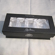 Vintage Set of 4 Crystal Napkin Rings by Oleg Cassini in Original Box