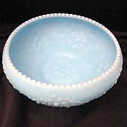 Vintage Fenton Blue Satin Bowl