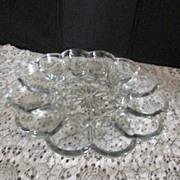 Clear Glass Elegant Egg Plate/Platter