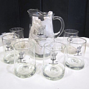 BC Comics Pitcher and 6 Glasses