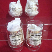 Two Pair of Houbigant Commemorative Footed Glasses