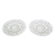 Pair of Vintage Imperial Glass Ice Cream Plates