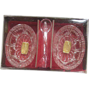 Set of 2 Salt Cellars Lead Crystal West Germany in Box