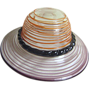 Blown Art Glass Lady's Hat