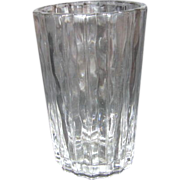 Heavy Clear Glass Pleated Vase by Studio Nova Japan