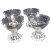 Set of 4 Anchor Hocking Boopie Champagne/ Sherbet Dessert Footed Bowls