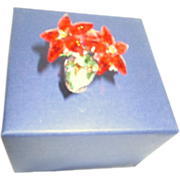 SALE Swarovski Poinsettia in Pot