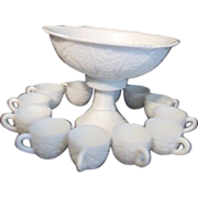 Imperial Milk Glass Punch Set