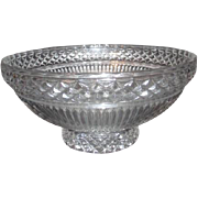 SALE Large Crystal Serving/Fruit Bowl with Ribbed and Diamond Pattern