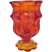 Amberina Footed Vase or Candle Holder