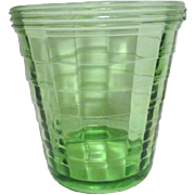 Green Vaseline Glass Ice Bucket by Hocking 1929-1933