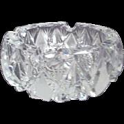 Heavy Cut Crystal Ashtray or Candy Dish