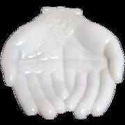Avon White Milk Glass Hands