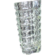 Heavy Clear Glass Vase Made in France